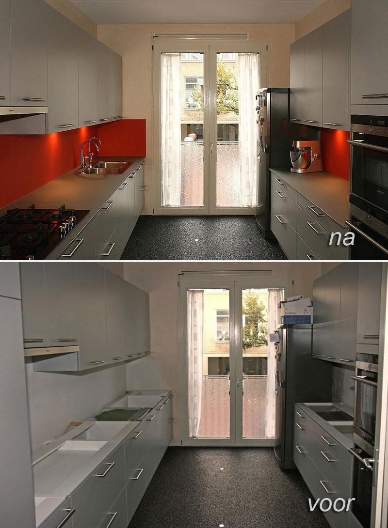 Keuken Renovatie Rotterdam : Keuken voor renovatie Meubelspuiterij Eurobord Rotterdam