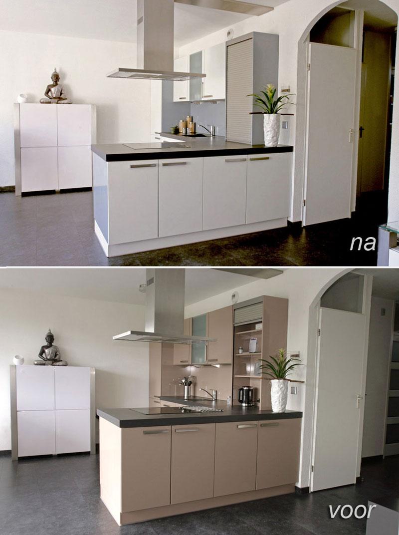 Kookeiland keuken spuiten meubelspuiterij eurobord - Grote keuken met kookeiland ...