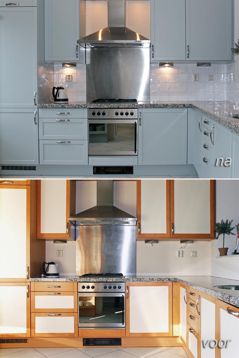 Eiken keuken opknappen keukenkastjes schilderen kosten opknappen kosten keuken diy opknappen - Keuken originele keuken ...